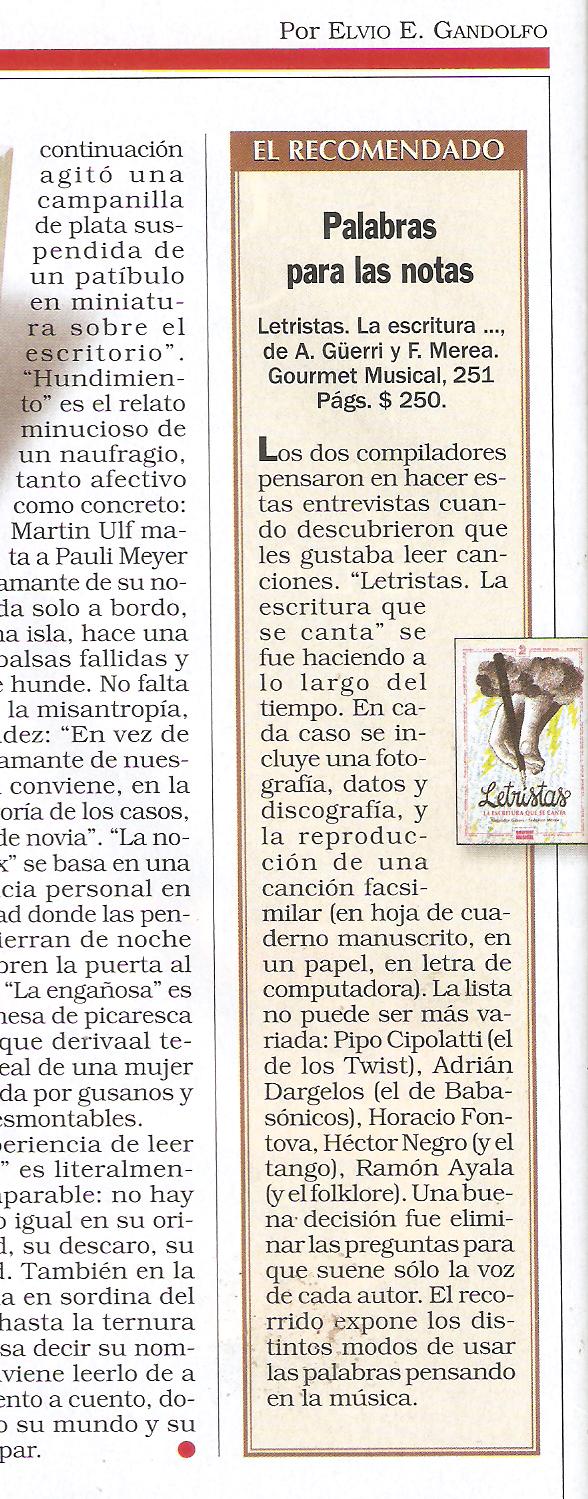 Revista Noticias – Letristas