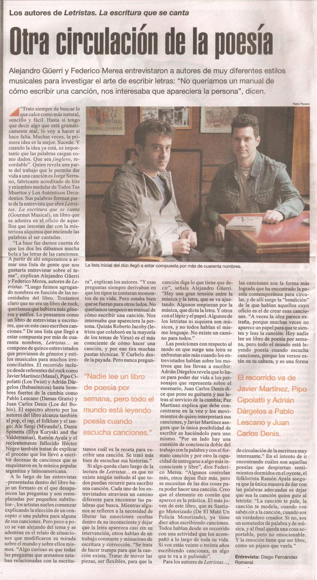 Página/12 – Letristas